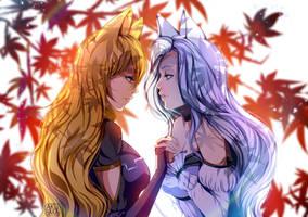 COMM:Lara and Sylvia by AkubakaArts