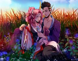 C:Arashi and Chitsuki by AkubakaArts