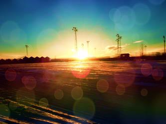 Sparkly sunset by ArtNoobly