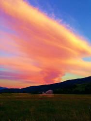 Fluffy clouds. by ArtNoobly