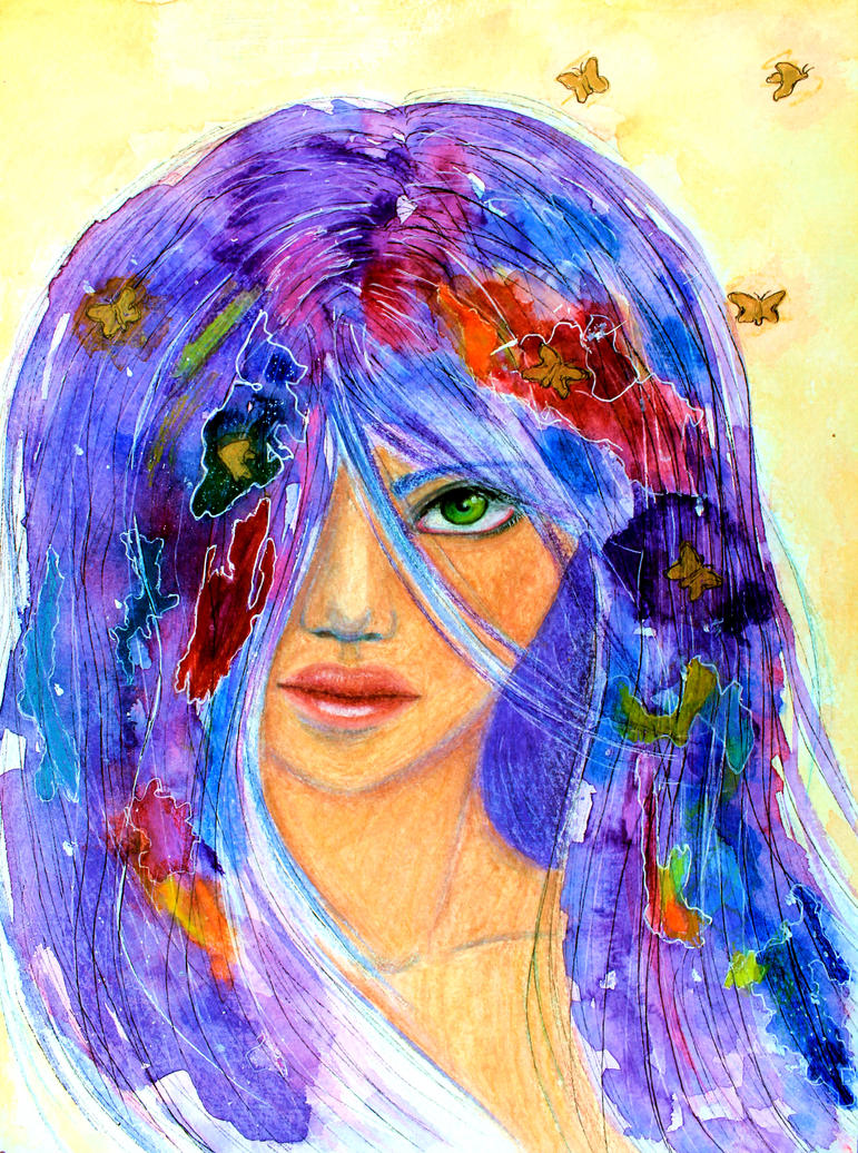 Her green eyed gaze II by ArtNoobly