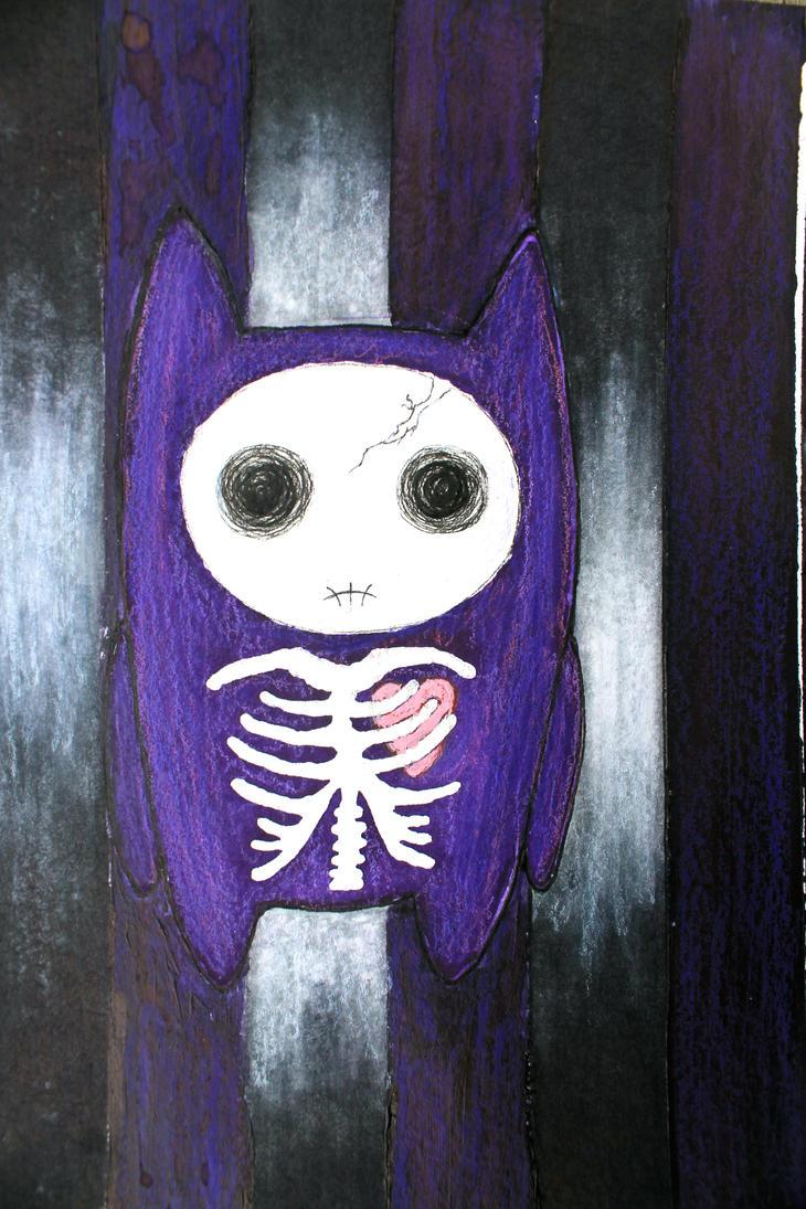 Skelly Kitty. by ArtNoobly