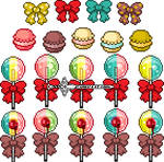 Lollipops and macaroons