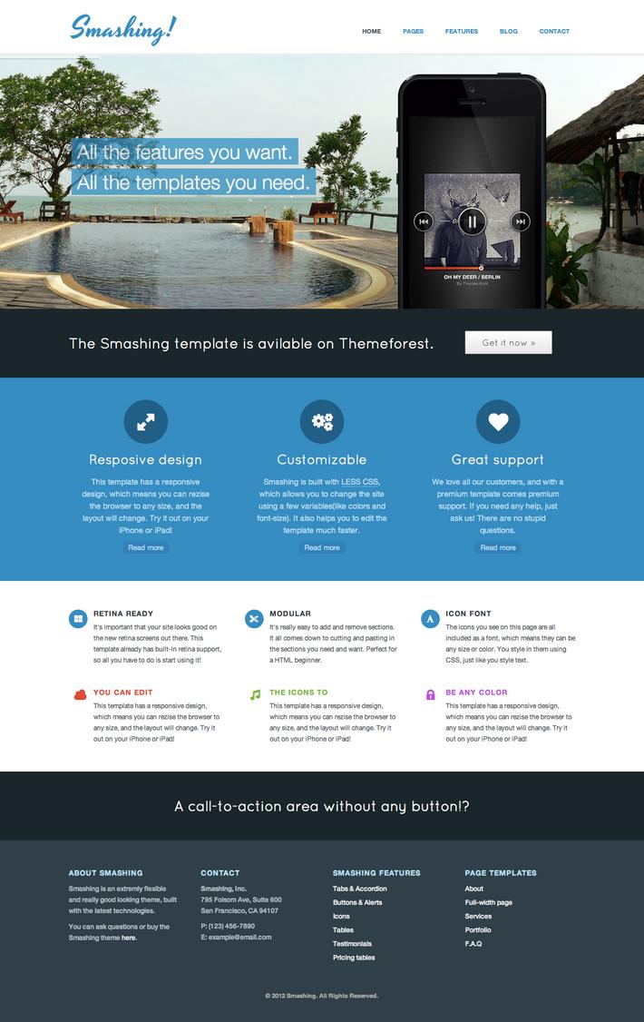 Smashing Theme  Responsive HTML5 Theme by freewordpressthemes