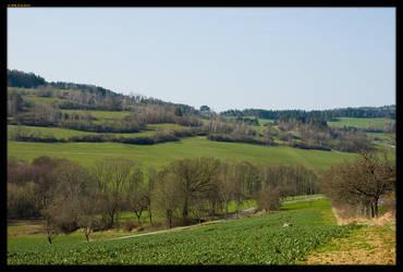 Czech spring landscape II by sirlatrom