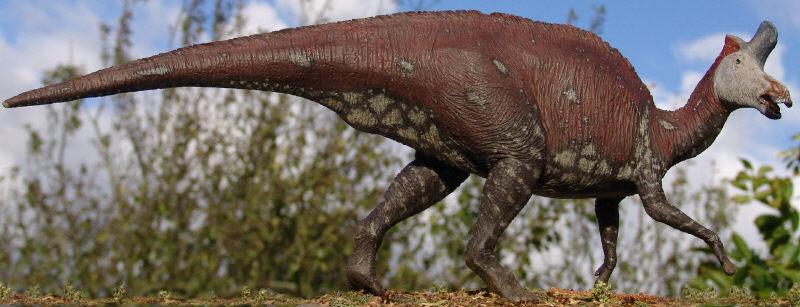 Lambeosaurus lambei by Gorgosaurus