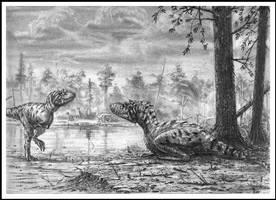 Gorgosaurus libratus pair