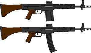 Haenel-Howa STG-108 (H) And (L) Assault Rifles