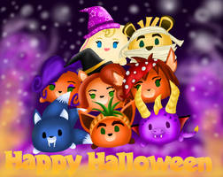 Happy Halloween with the tsum tsums