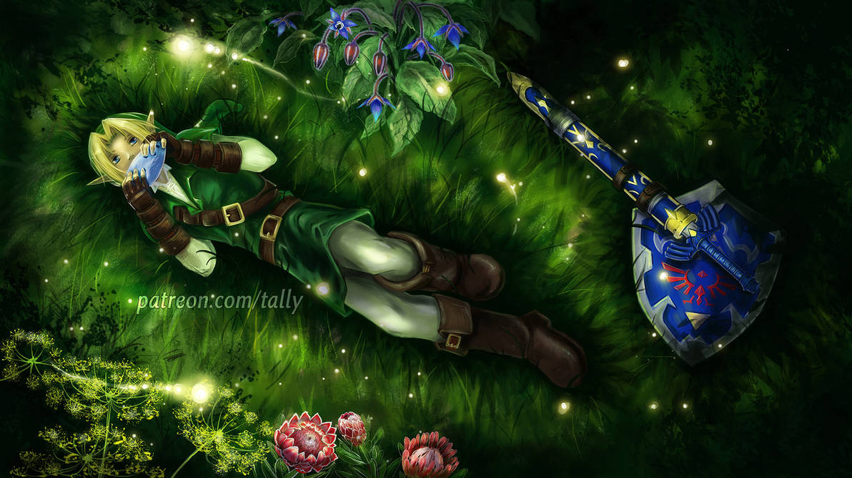 Minuet of Forest - Wallpaper by tallydraws