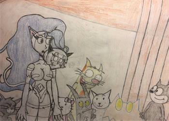 Children of the Cat Goddess Redraw by CrashBombah