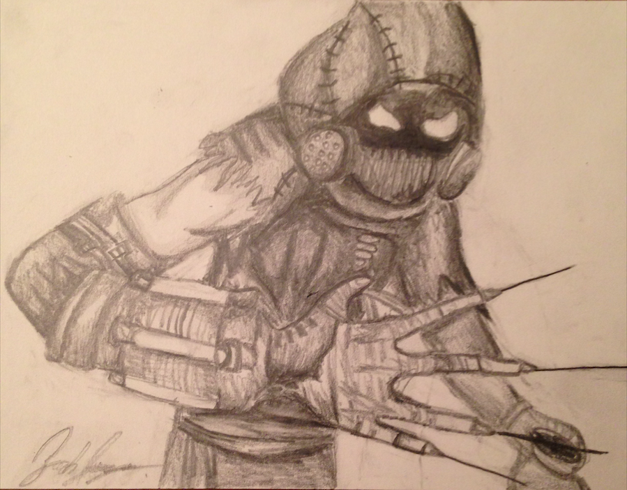scarecrow batman arkham asylum speed drawing by thearkhamsage