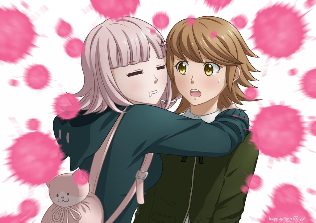 Danganronpa - Chiaki and Chihiro by happypiggy
