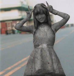 Sayaka turned stone by stonegirls