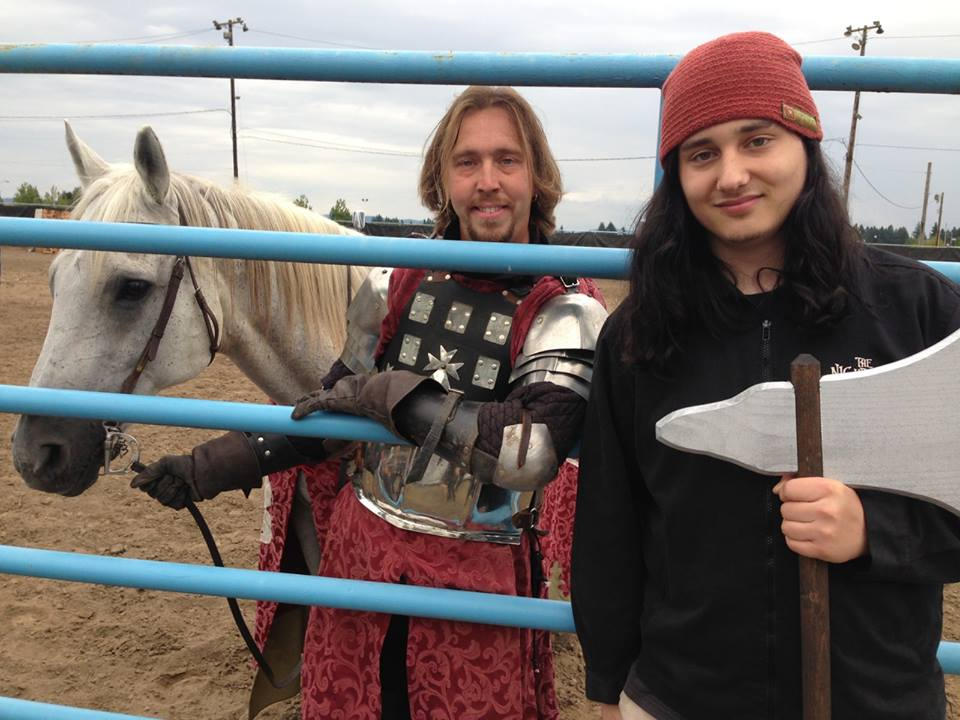 me my Ax and Sir Tristan of Scotland