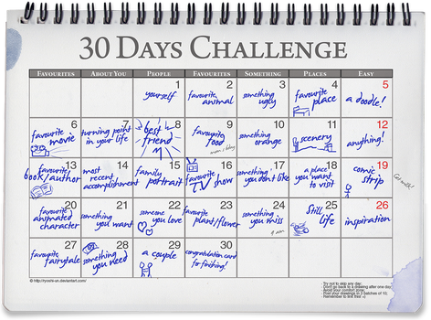 30 Days Challenge Meme