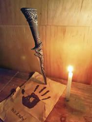 Ebony Dagger replica II by ryoshi-un
