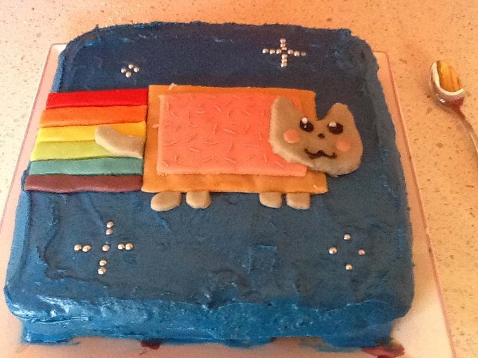 Nyan Cat Cake by LylatheGlaceon
