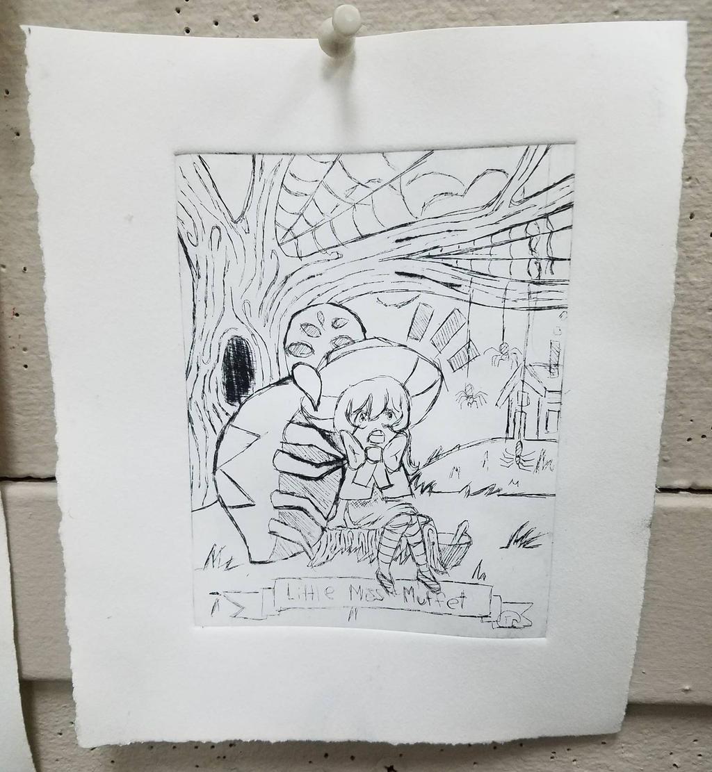 intaglio print #1 by Jellyfish-Magician