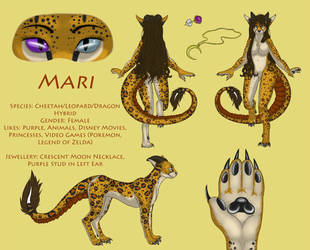 Fursona Mari Ref Sheet by darkblack333