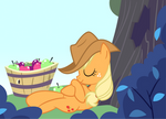 Applejack Is Napping After Applebuckin'