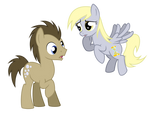 Doctor Hooves And Derpy Whooves