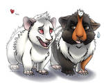 Kiki and Nikki by Plumpig