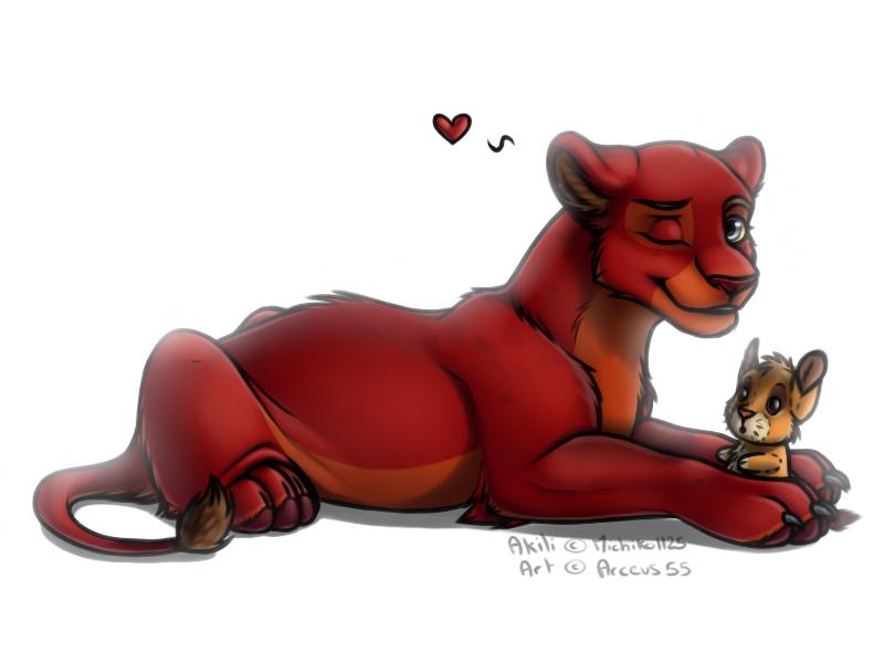 Akili And Her Simba Plushie by Arceus55