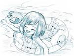 8/100 - Selene floats right past you (Pokemon) by Uminanimu