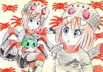 Spider Rom Rough Sketch (Hyperdimension Neptunia) by Uminanimu