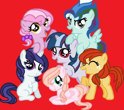 Mane Six Kids ~REDONE by Cookie-Dolls