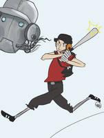 Scout vs. Robo-Scout by monkette