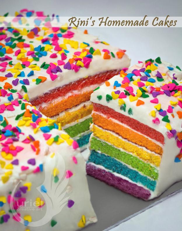 Rainbow Cake Artinya : Aunt Rini s Homemade Rainbow Cake by urielcherub on DeviantArt