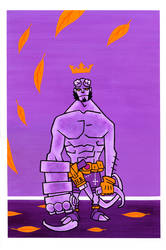 Hellboy Gouache by JakobWestman
