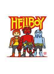 Hellboy Playmobil Gouache by JakobWestman