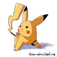 025 - Pikachu by steven-andrew