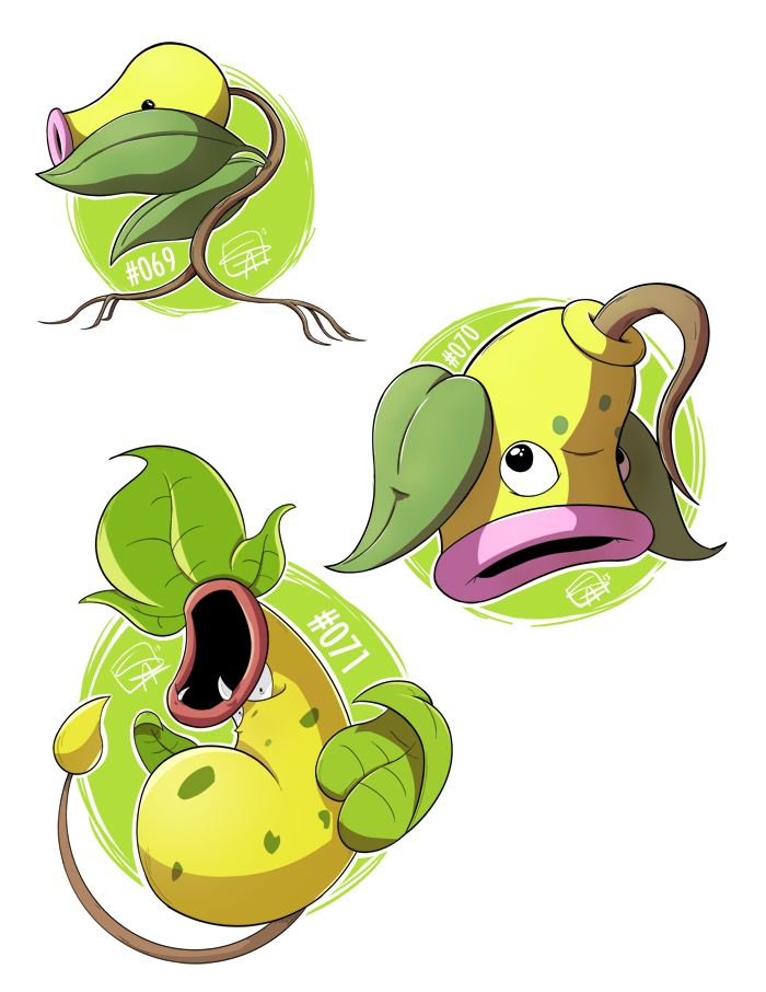 069 - Bellsprout 070 - Weepinbell 071 - Victreebel by steven-andrew