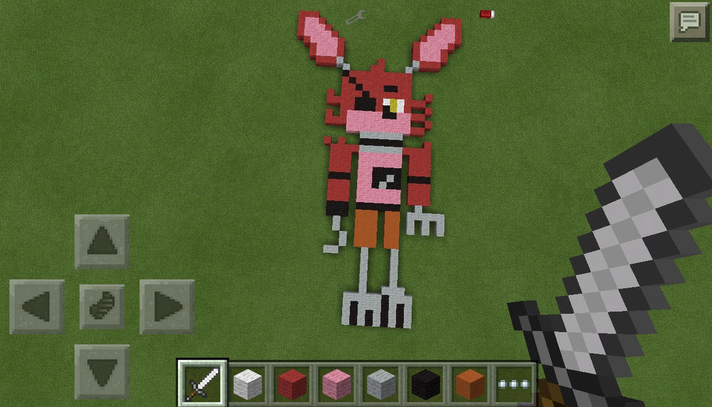 Minecraft PE Project Foxy The Pirate Pixel Art By VyrisZor On - Skins para minecraft pe foxy