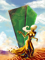 Triforce Goddess and Prism by Spire-III