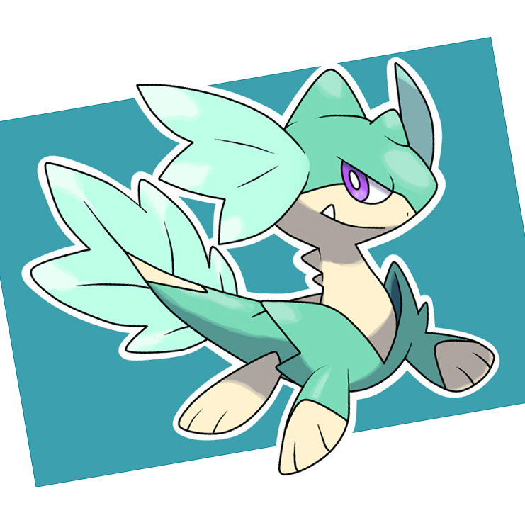 fakemon dragon-water by fer-gon