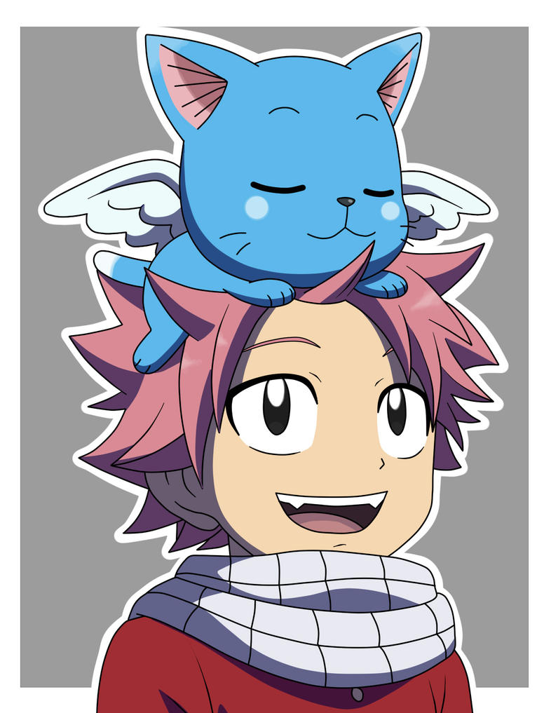 natsu and happy fairy tail by fergon on deviantart