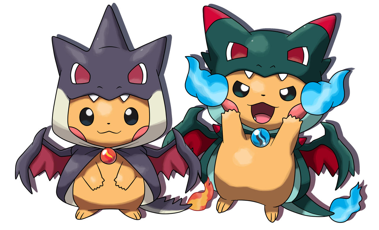PIKACHU PONCHO CHARIZARD RE COLOR by fer-gon on DeviantArt