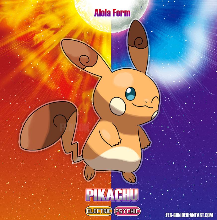 Pikachu alola by fer-gon on DeviantArt