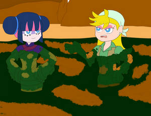 Panty and Stocking: vacation in Terrydactyland