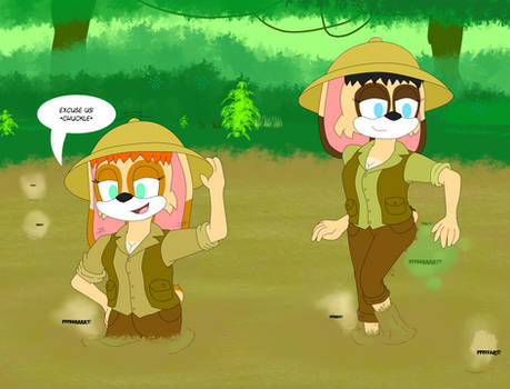 Susie and Brittany: quicksand fun