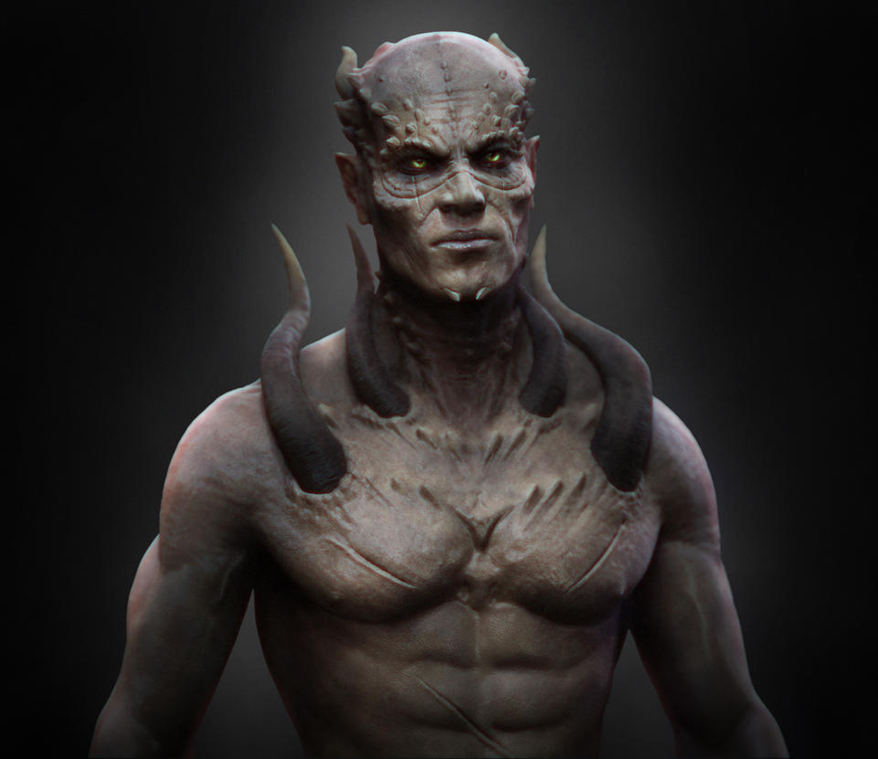 Demon bred 3d nude image