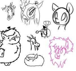 Pfftblblbl sketches by wedraw4boops-admin