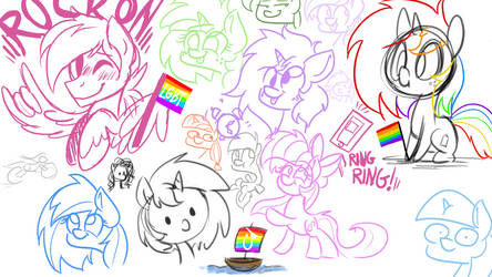 Stream sketches and Love Wins! by wedraw4boops-admin