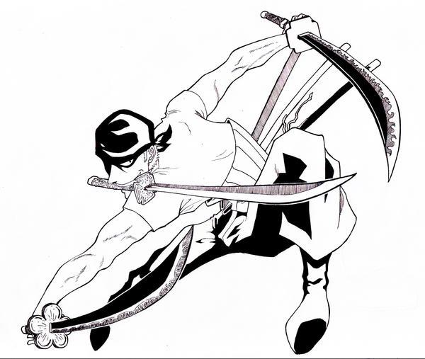how to draw roronoa zoro