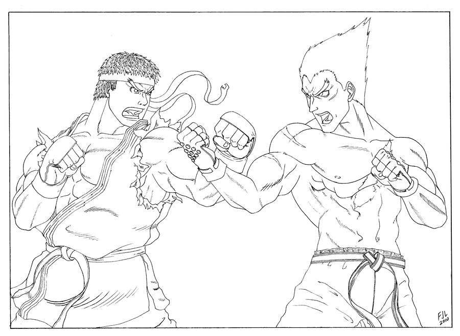 street fighter coloring pages - photo#22